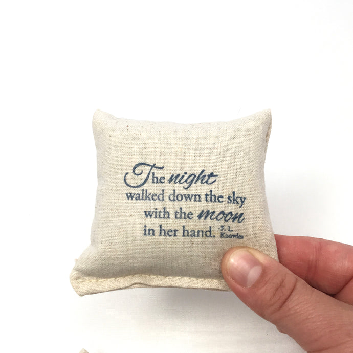 Scented Pillow Inked Night Poem Design - Choice of Scent and ink