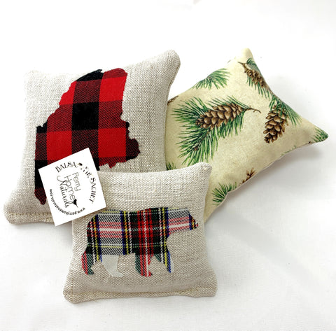 Balsam Fir Sachet Set - Maine Woods Themed Sachet Trio
