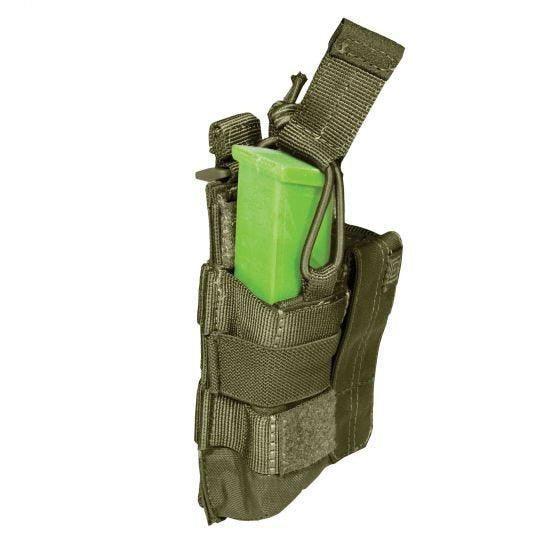 5.11 Double Pistol Mag Pouch Bungee/Cover Tac Olive Drab - 56155