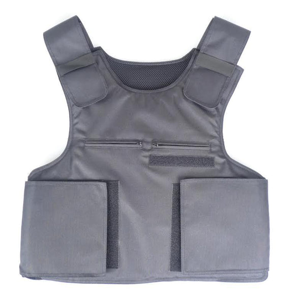 Bulletproof vest carrier with inserts for bullet resistant protection against some hand guns.