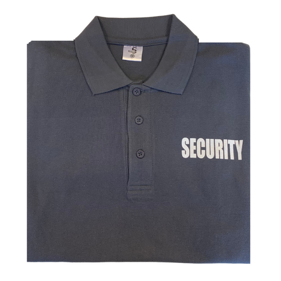 Security Golf Polo Shirt - Grey
