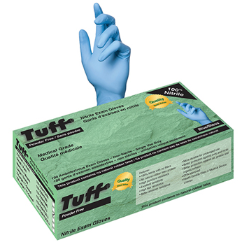 TUFF Nitrile Exam Gloves 100ct - Blue