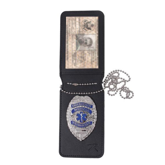 Rothco - NYPD Style Leather Badge Holder w/ Clip