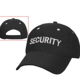 Black Low Profile Mesh Cap with Silver SECURITY