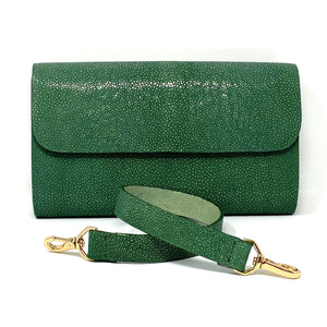 Elizabeth: Polished Stingray- Green