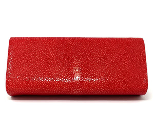 Ingrid- Stingray Polished Red Clutch