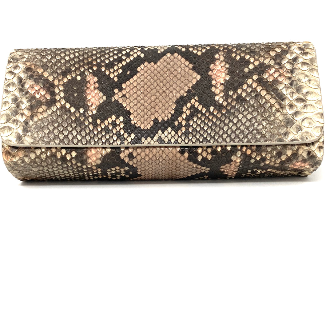 Ingrid- Python Painted Clutch