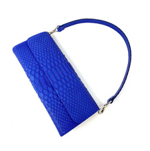 Load image into Gallery viewer, Ingrid- Python Royal Blue Clutch