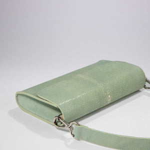 Elizabeth: Polished Stingray- Light Green
