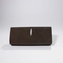 Load image into Gallery viewer, Ingrid- Stingray Caviar Brown Clutch