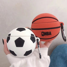 Basketball Soccer Football Silicone Shockproof Protective Case For AirPods 1 & 2 with Carabiner-Protective Cases for Airpods-TheWantsies.com