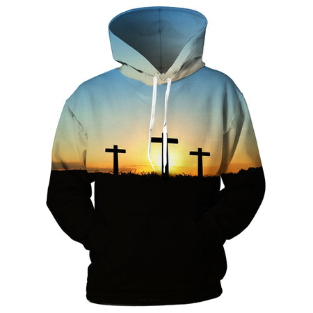 S Christian Faith Jesus Cross Hoodie-Hoodies & Sweatshirts-TheWantsies.com