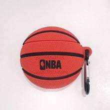 Basketball Basketball Soccer Football Silicone Shockproof Protective Case For AirPods 1 & 2 with Carabiner-Protective Cases for Airpods-TheWantsies.com