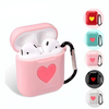 Sweet Heart Silicone Protective Shockproof Case For AirPods 1 & 2 with Carabiner-Protective Cases for Airpods-TheWantsies.com
