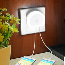 LED Night Light with Dual USB Charging Ports-LED Night Lights-TheWantsies.com