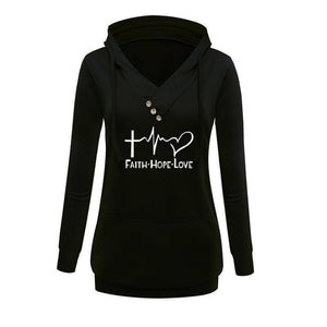 Women's Faith Hope Love Pullover Hoodie Sweatshirt-Hoodies & Sweatshirts-TheWantsies.com