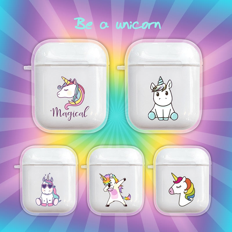 Be A Unicorn Protective Shockproof Silicone Case For AirPods 1 & 2-Protective Cases for Airpods-TheWantsies.com