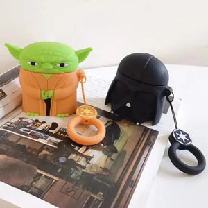 GJ0747 Star Wars Master Yoda Darth Vader Storm Trooper Shockproof Protective Case For AirPods & Carabiner-Protective Cases for Airpods-TheWantsies.com