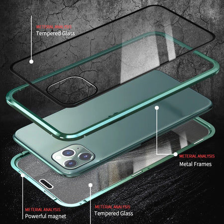 For iPhone 11 Wantsies Magnetic Privacy Glass Case for iPhone 11 Pro Max X XR XS 6 6s 7 8 Plus - Hot Kisscase-Fitted Cases-screen protector-TheWantsies.com