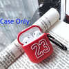 Red Basketball Jersey 23 Shockproof Protective Case For AirPods 1 & 2 with Carabiner-Protective Cases for Airpods-TheWantsies.com