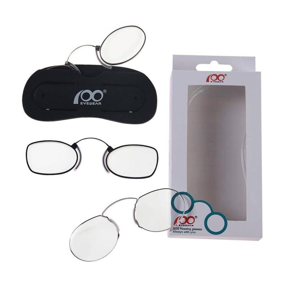 Thin Clip Nose Reading Glasses for Phone Case Includes Stand-Reading Glasses-TheWantsies.com