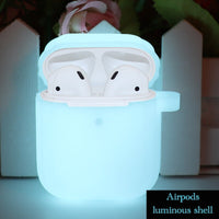 Glow-in-the-Dark Luminescent Silicone Protective Shockproof Case For AirPods 1 & 2-Protective Cases for Airpods-TheWantsies.com