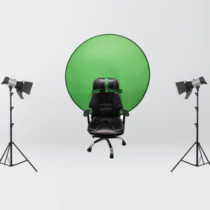Chair Mounted Portable Green Screen Background for Home Office Video Meetings-Background-TheWantsies.com