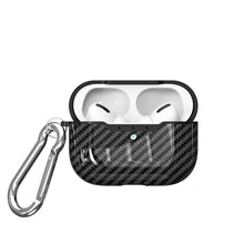 Carbon Fiber Shockproof Protective Case For AirPods Pro with Carabiner-Protective Cases for Airpods-TheWantsies.com