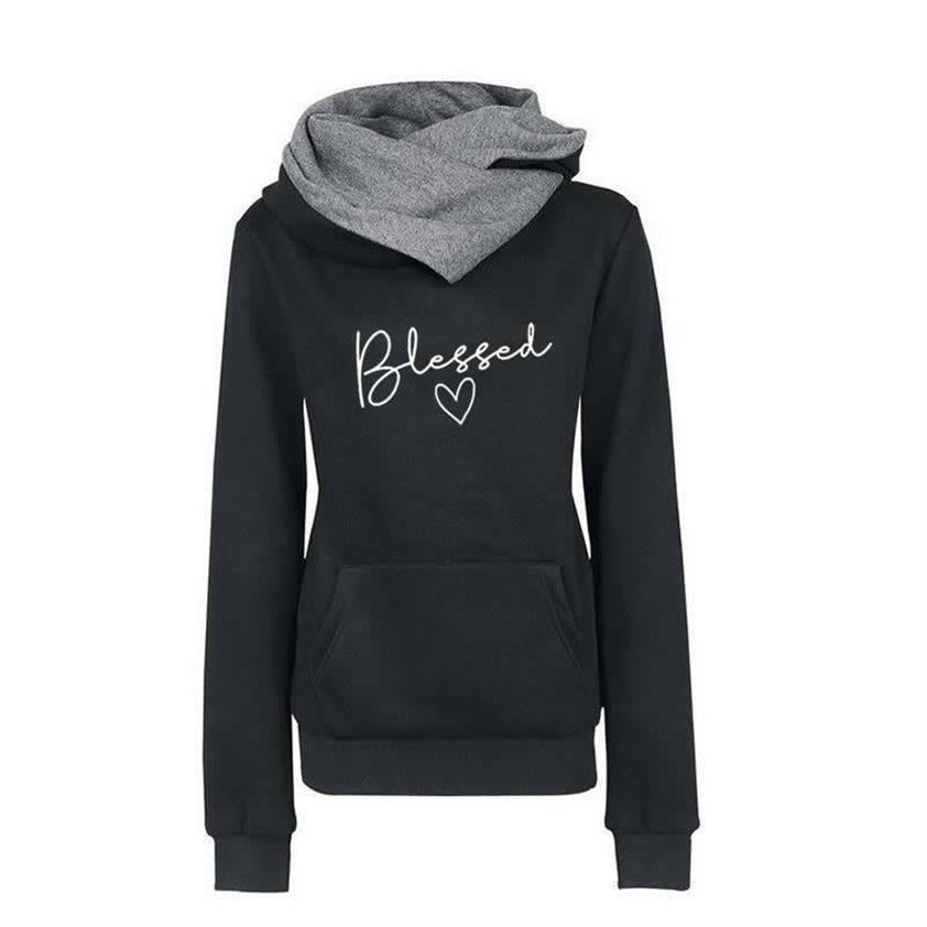 Wantsies Women's Blessed Pullover Fitted Sweatshirt Hoodie-Hoodies & Sweatshirts-TheWantsies.com