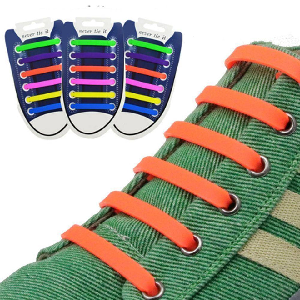 No Tie Silicone Shoelaces - Easy Lace your Shoes-Shoelaces-TheWantsies.com