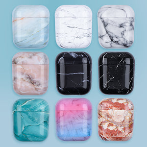 Marble Pattern Shockproof Protective Hard Case Shell For AirPods 1, 2 & Pro-Protective Cases for Airpods-TheWantsies.com