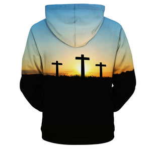 Christian Faith Jesus Cross Hoodie-Hoodies & Sweatshirts-TheWantsies.com
