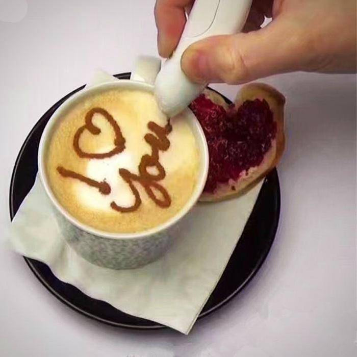 Latte Art Pen - Coffee Stencil Spice Electric Pen Tool-Coffee Stencils-TheWantsies.com