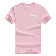 x-Pink-b Men's Faith Christian Jesus Fish Ichthys T-Shirt-T-Shirts-M-TheWantsies.com