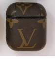 Brown LV LV Style Protective Case For AirPods 1 & 2 with Carabiner-Protective Cases for Airpods-TheWantsies.com