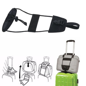 Black Easy Travel Bag Bungee Luggage Strap - Add A Bag Onto Your Suitcase-Travel-TheWantsies.com