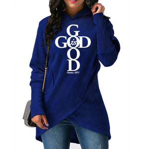 Blue Wantsies Women's God Is Good Hoodie Sweatshirt - Psalms 107:1-Hoodies & Sweatshirts-S-TheWantsies.com