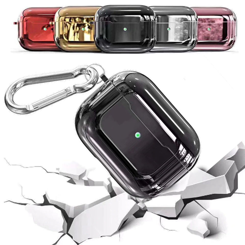 Designer Luxury Shiny Metal Electroplated Protective Case For AirPods Pro-Protective Cases for Airpods-TheWantsies.com