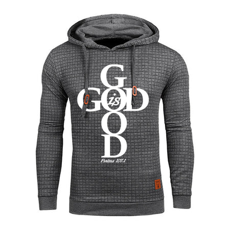 Men's Faith God Is Good Hoodie Sweatshirt - Psalms 107:1-Hoodies & Sweatshirts-TheWantsies.com