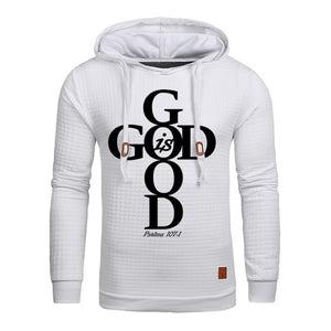 White Faith God Is Good Hoodie Sweatshirt - Psalms 107:1-Hoodies & Sweatshirts-M-TheWantsies.com