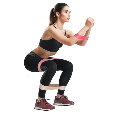WantsieFit Training Fitness Resistance Bands - 5-minute Booty Band Workout Kit-TheWantsies.com