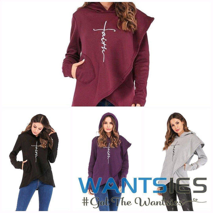 Women's Faith Hoodie Wrap Cape-Hoodies & Sweatshirts-TheWantsies.com