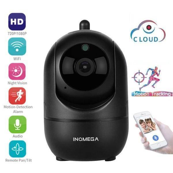 720P (Black) Wireless IP Intelligent Auto Tracking Home Security Surveillance Camera-Electronics-US Plug-TheWantsies.com