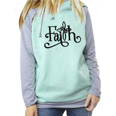 White Women's Faith Inspired Hoodie Sweatshirt-Hoodies & Sweatshirts-S-TheWantsies.com