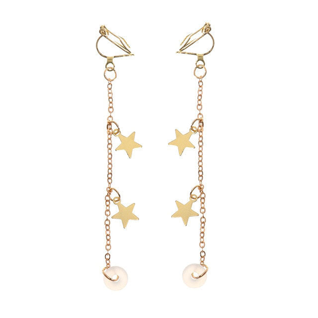 Gold Star Clip Wantsies Anti-Lost AirPod Earrings for Airpods 2/3 Pro - Pierced or Clip On Wireless Earphone Savers-Airpod Earrings-TheWantsies.com