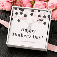 Wantsies Happy Mother's Day 14k White Gold Crystal CZ Necklace-Jewelry-TheWantsies.com