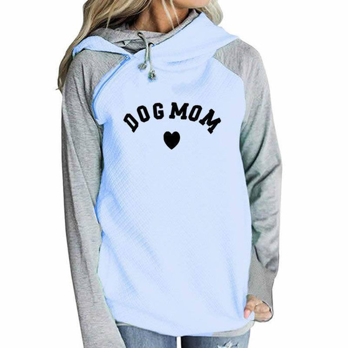 Women's Dog Mom Heart Pullover Hoodie Sweatshirt-clothing-TheWantsies.com