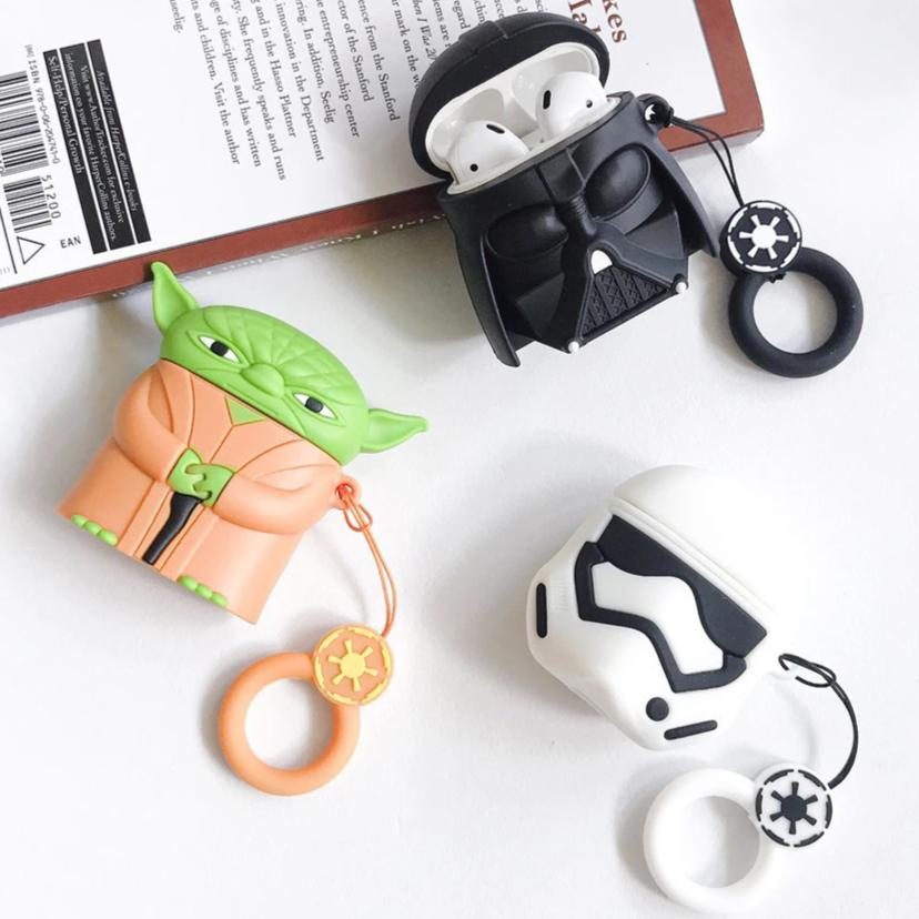 Star Wars Master Yoda Darth Vader Storm Trooper Shockproof Protective Case For AirPods & Carabiner-Protective Cases for Airpods-TheWantsies.com