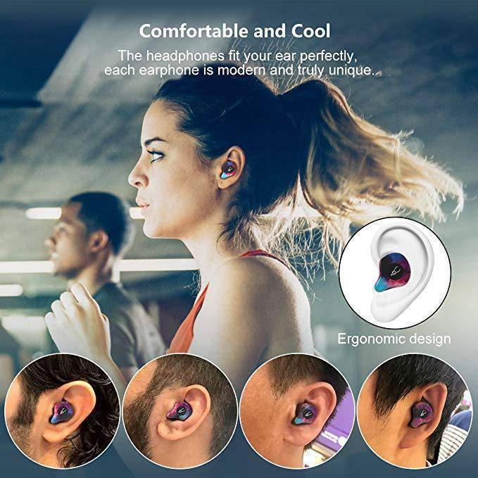 Bluetooth V5.0 Mini Wireless Sport Earbuds with Power Bank-Bluetooth Earphones & Headphones-TheWantsies.com