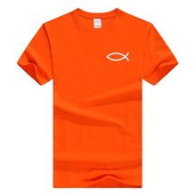 x-Orange-b Men's Faith Christian Jesus Fish Ichthys T-Shirt-T-Shirts-M-TheWantsies.com